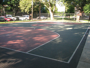 Infiltration Trench at Clark Park Basketball Court; Photo Credit: Meliora Design